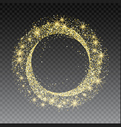 golden glitter circle abstract background with vector image