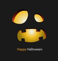 happy halloween smiling monster background vector image