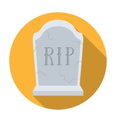 Headstone icon in flat style isolated on white vector
