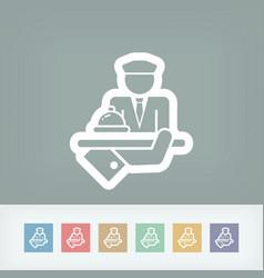Hotel icon porter vector
