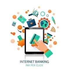 Internet banking application vector