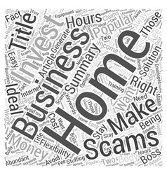 Is a Home Business Right for You Word Cloud vector image