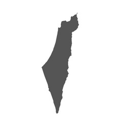 israel map black icon on white background vector image