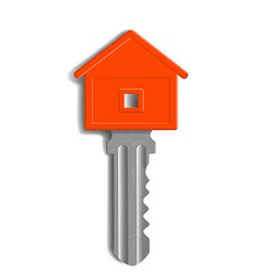 key to the lock in the form of house isolated on vector image