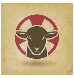 Lamb of god vintage background vector