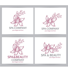 Logo spa company vector