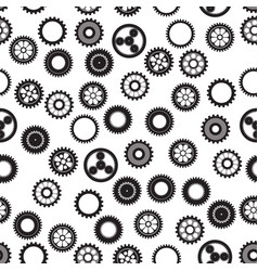Machine gear collection cogwheel set vector