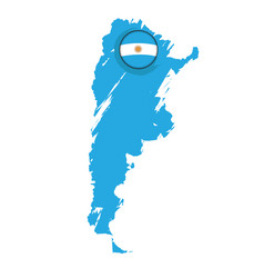 map of argentina with a label vector image