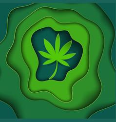 marijuana paper art backgroundcolor vector image