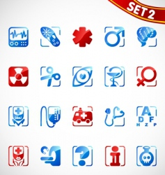 medical icons new vector image
