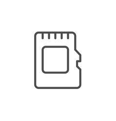 memory card line outline icon vector image