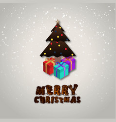merry christmas gift background vector image