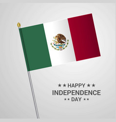 mexico independence day typographic design with vector image