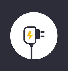 Mobile charger icon vector