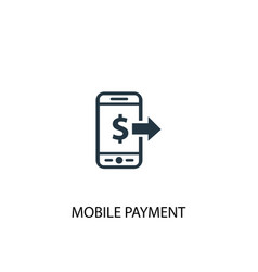 mobile payment icon simple element vector image