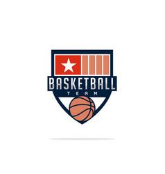 modern professional logo for a basketball team vector image