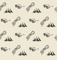 mountain hiking outdoor pattern seamless tile vector image