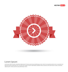 next icon - red ribbon banner vector image