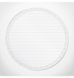 Paper Circle vector image vector image