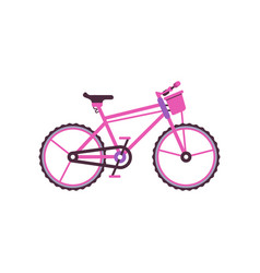 pink city bike modern bicycle vector image