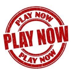 Play now sign or stamp vector