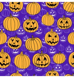Purple halloween print seamless pattern with vector