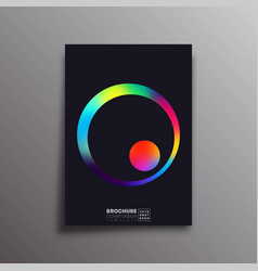 Retro design poster with colorful gradient circle vector