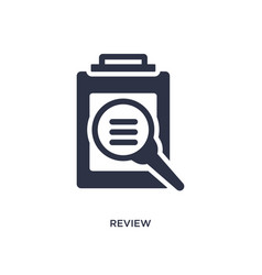 Review icon on white background simple element vector