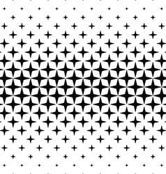 Seamless monochrome geometric pattern vector