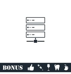 Server icon flat vector