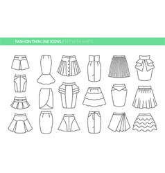 Set with different skirts vector