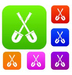 shovels set collection vector image