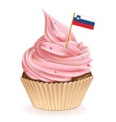 Slovenian Cupcake vector