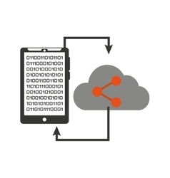 Smartphone transfer cloud data share vector