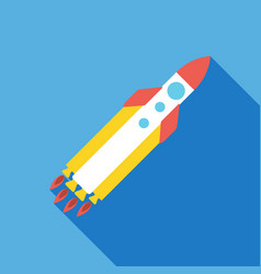 Startup rocket icon business concept vector