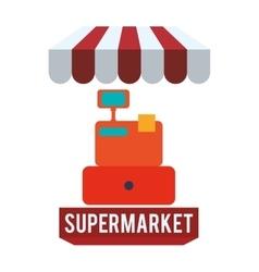 Supermarket design vector image vector image