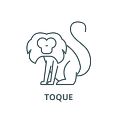 toque line icon linear concept outline vector image