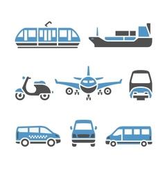 Transport icons - a set ninth vector