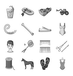 transport recreatiotn animal and other web icon vector image