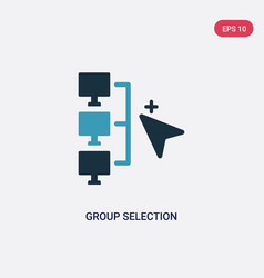Two color group selection icon from networking vector