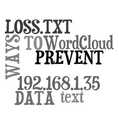 Ways to prevent data loss text word cloud concept vector