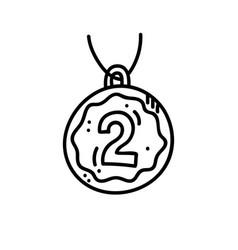 winner medal vector image