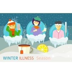 Winter Illness Season People Design vector