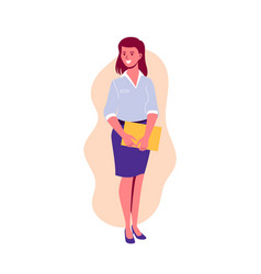 woman character teacher student or businesswoman vector image
