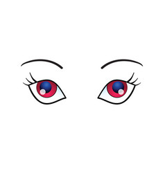 Woman eyes beauty on white background vector