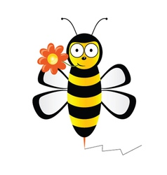 cute bee with flower vector image