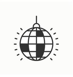 disco ball icon disco dance nightlife club vector image vector image