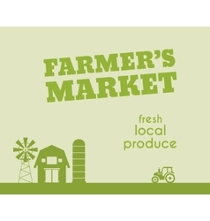 Eco and organic background Farmer s market poster vector image