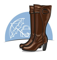 female boots vector image