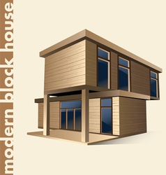 modern block house in color vector image vector image